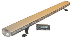 50 Red Led Light Bar Construction Truck Emergency Fire Take Down Work Cargo