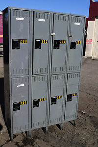 Tennsco Storage 8 Compartment school gym lockers locker boys Room Cubby Metal