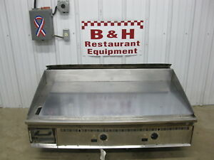 Keating 48 Natural Gas Heavy Duty 4 Griddle Flat Miraclean Top Grill 48x30ld