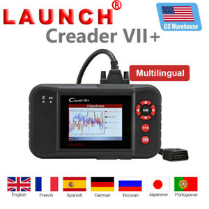 Launch Creader Vii Crp123 Obd2 Diagnostic Scan Code Reader Transmission Abs Srs