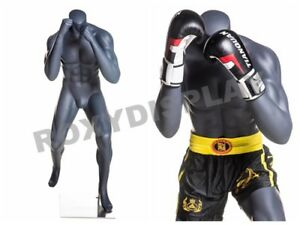 Male Fiberglass Headless Athletic Style Mannequin Dress Form Display boxing 1