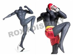 Male Fiberglass Headless Athletic Style Mannequin Dress Form Display boxing 3