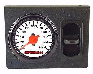 Air Ride Single Needle Air Gauge White 200psi Panel 1 Paddle Switch Control