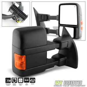 Passenger Side 2008 2016 Ford F250 Superduty Power Heated Led Tow Mirror Right