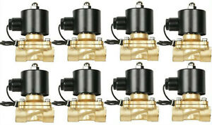 Air Bag Suspension Valves 3 8 npt Brass Eight Fast Electric 12v Air System Part