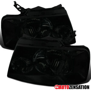 For 2004 2008 Ford F150 2006 2008 Lincoln Mark Lt Smoke Headlights Lamps Pair