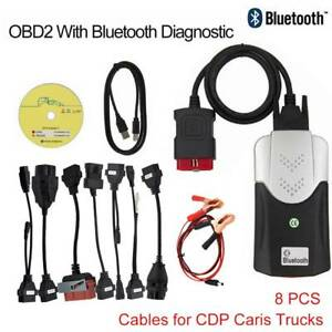 Bluetooth Tcs Cdp Pro Plus For Autocom Obd2 Diagnostic Tool 8pcs Car Cables W