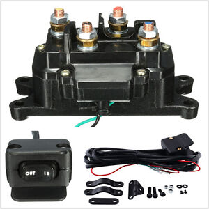 12v Solenoid Relay Contactor Winch Rocker Thumb Dash Switch Combo For Atv Utv