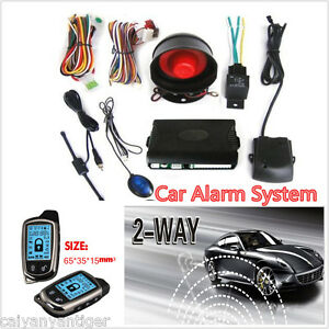 2 Way Car Alarm Security System With Lcd Long Distance Controlers Anti Theft