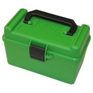 MTM H50RMAG10 Green R-MAG Series Deluxe Ammo Box 50 Round wHandle