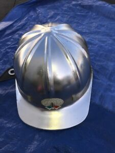 Vintage Apex Safety Products Aluminum Silver Hard Hat Miners Construction