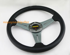350mm Universal Black Spoke 6 Bolt Racing Drifting Steering Wheel