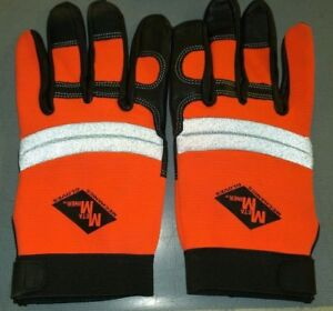 6 Sets Of Xl Meta Miner Mechanics Gloves High Visibility Reflective Ppe New