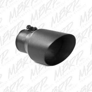 Mbrp Tip 4 1 2 O d Dual Wall Angled 3 Inlet 8 Length Black T5151blk