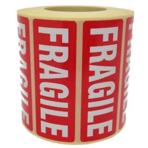 Fragile Parcel Labels Postage Stickers 89 X 32mm Permanent Self Adhesive