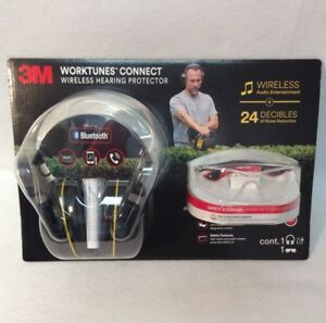 3m Worktunes Connect Wireless Hearing Protector Flat Temple Safety Eyewear Set