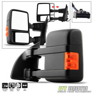 driver Side 2008 2016 Ford F250 f350 Super Duty Manual Led Signal Towing Mirror