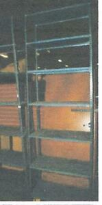 Store Display Fixtures 2 Sections Metal Warehouse Shelving 12 Tall