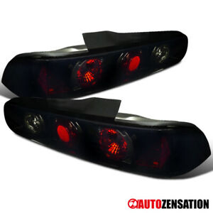 For 1994 2001 Acura Integra 2dr Glossy Black Dark Smoke Tail Lights Brake Lamps