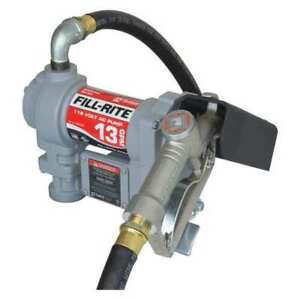 Fill rite Sd602g 13gpm 1 6hp 115 Vac Fuel Transfer Pump With Hose And Nozzle