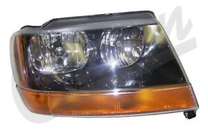 Right Headlight Jeep 1999 To 2004 Wj Grand Cherokee Crown 55155128ab