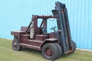 30 000 Lb Taylor Forklift With Boom Mast Stock 62647
