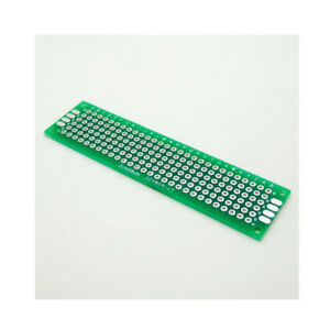 2 5 10pc Double Side 2x8 Cm Pcb Strip Board Printed Circuit Prototype Track Lw