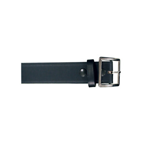 Boston Leather 6505 1l 38 Black Plain Finish Lined 1 3 4 Wide Garrison Belt 38