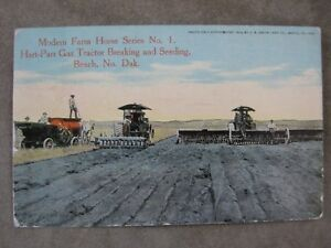 Hart Parr Gas Steam Tractor Post Card Brochure Beach ND North Dakota