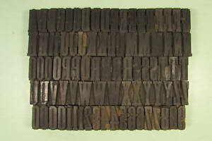 Grecian Condensed Letterpress Blocks Wood Type 1 5 8 Inch Uppercase Numbers