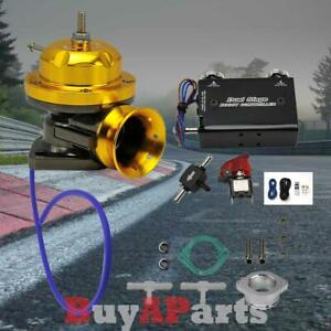 Gold Turbo Type rs Bov Blow Off Valve Black Dual Stage 30 Psi Boost Controller