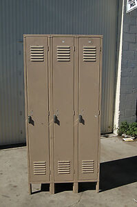 Penco Storage 3 Compartment school gym lockers locker boys Room Cubby Metal