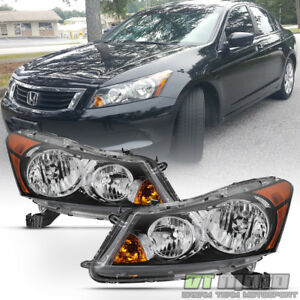 factory Style Headlamps For 2008 2012 Honda Accord Sedan Headlights Left right