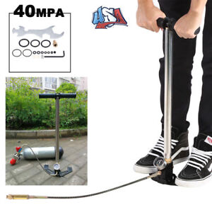 High Pressure Hand Pump 4500psi for Hpa Airgun Powerstroke Hose Portable 3-Stage