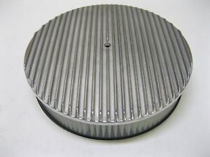 14 Raised Finned Aluminum Air Cleaner Filter Recessed Chevy Ford Gm Round