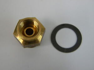 Carter Afb Avs Tq 5 8 20 Brass Fuel Inlet Fitting 5 16 Inverted Flare