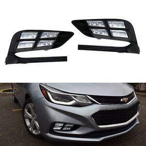 Direct Fit 10w White Led Daytime Running Light Fog Lamps For 2017 Up Chevy Cruze