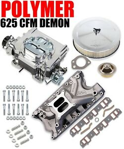 625 Cfm Street Demon Carburetor Ford 351w Manifold Combo Kit Vk060022