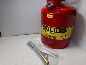 Justrite Accuflow Type 2 Safety Fuel Can 5 Gallon Usa new
