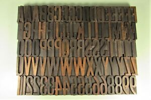 Jg Cooley Gothic Special Letterpress Blocks Wood Type 2 Inch Uppercase Numbers