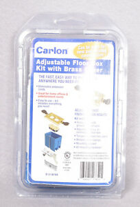 Carlon B121bfbb Adjustable Floor Box Kit With Brass Cover