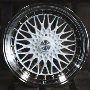 18 Esr Sr03 White Machined Lip Wheels 18x8 5 30 5x114 3 Fit Accord Civic S2000