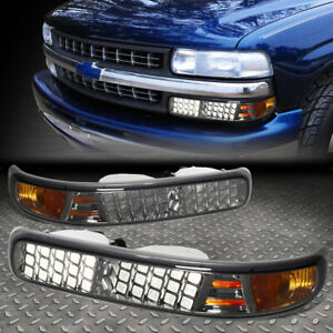 For 1999 2002 Chevy Silverado 1500 2500 3500hd Led Look Smoked Lens Bumper Light