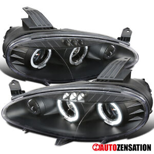 For 2001 2005 Mazda Miata Mx 5 Black Led Halo Rims Projector Headlights