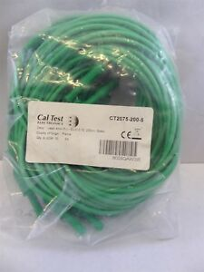 Cal Test Ct2075 200 5 Straight Banana Plug To Jack Test Lead Green pack Of 10