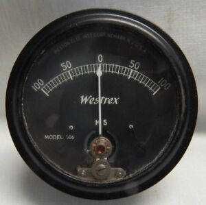 Vintage Panel Meter Gauge Westrex M5 The Weston Electrical Corp Model 506