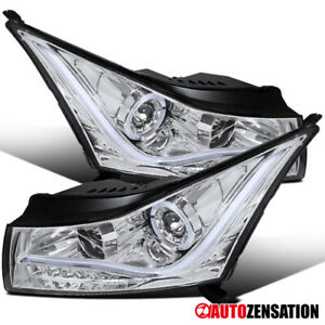 For 2011 2014 Chevy Cruze Clear Halo Projector Headlights Lamps led Bar Signal