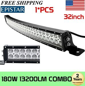 Curved 42inch 240w Led Light Bar Flood Spot Combo Work Offroad Driving Lamp 40