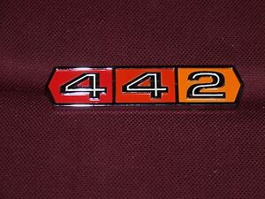 66 67 Oldsmobile Cutlass 442 Trunk Emblem New 1966 1967 Olds Badge Plate