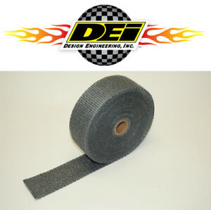 Dei 010108 2 x50 Exhaust Manifold Header Downpipe Heat Wrap Black High Temp
